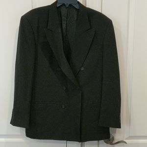 Men's city streets black button dress blazer
